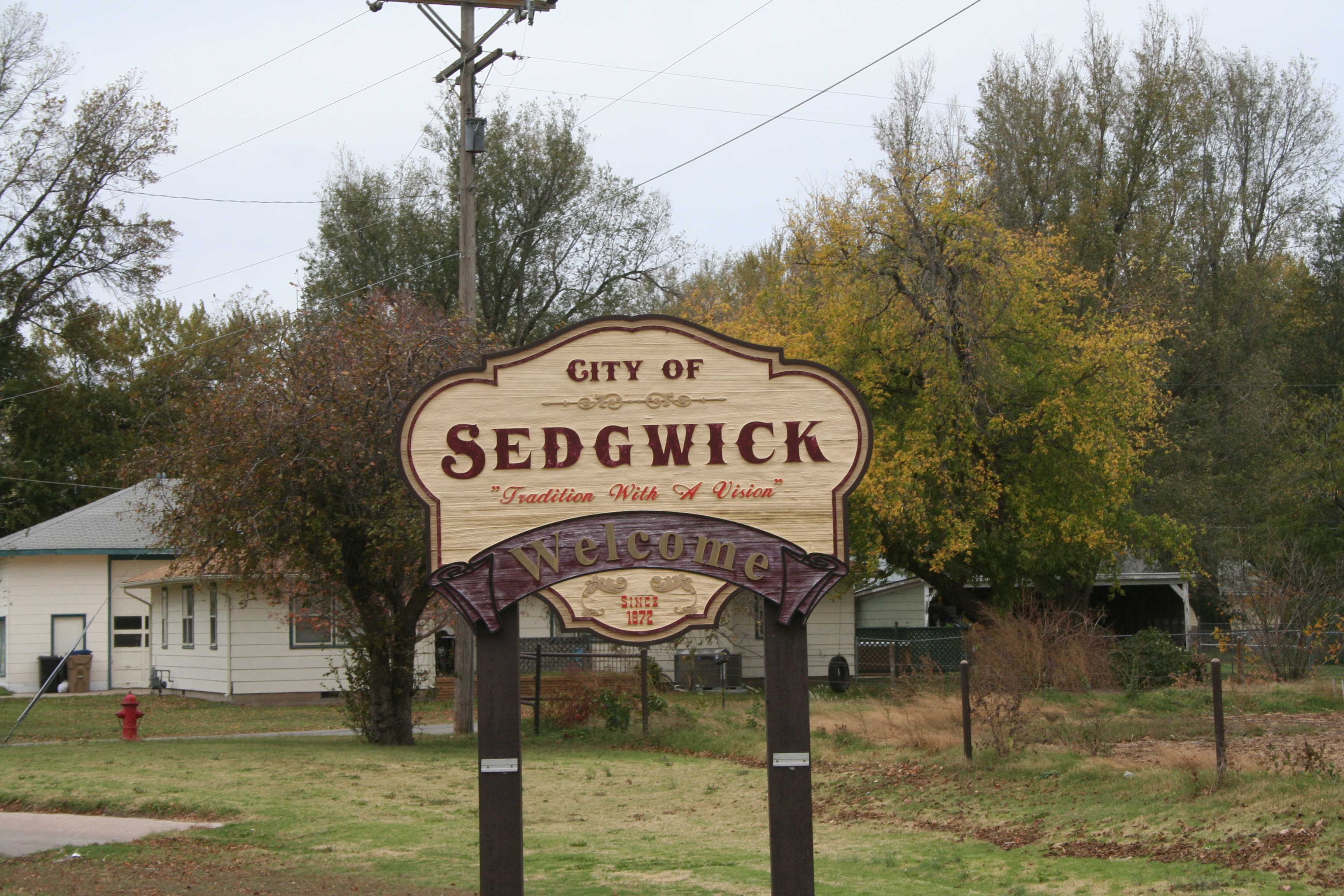 City of sedgwick sign (4)
